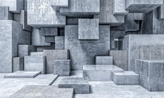 Architecture Removable Wallpaper Concrete Murals Etsy In 2020 Mural Wallpaper Mural Wall Murals