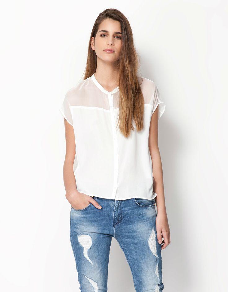 Bershka Colombia - Camisa Bershka transparencia | Una de