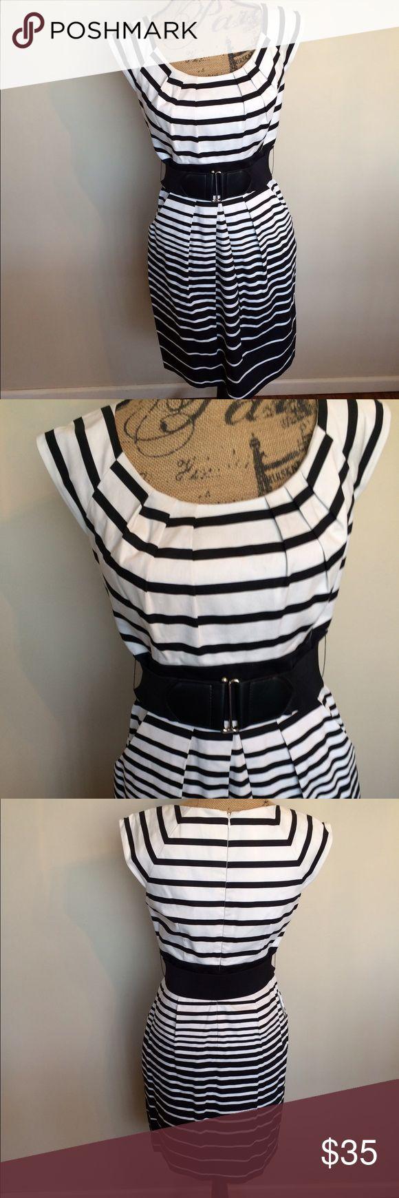 1000  ideas about Black White Striped Dress on Pinterest - Striped ...