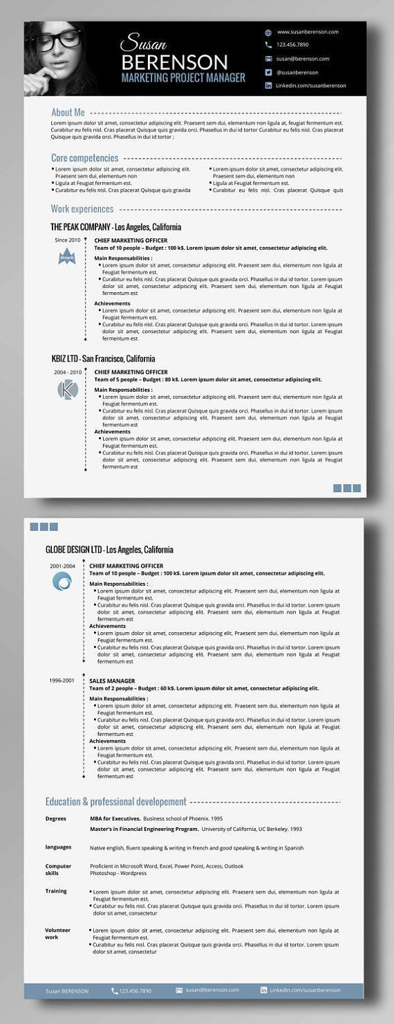 237 best CV images on Pinterest | Resume, Resume design and Curriculum