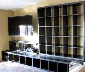 IKEA Hackers: Expedit: the bench, bookcase & Bass speaker version