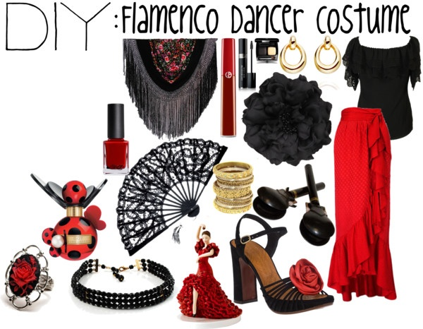 """DIY: Flamenco Dancer Costume"" by theekissoflife on Polyvore"