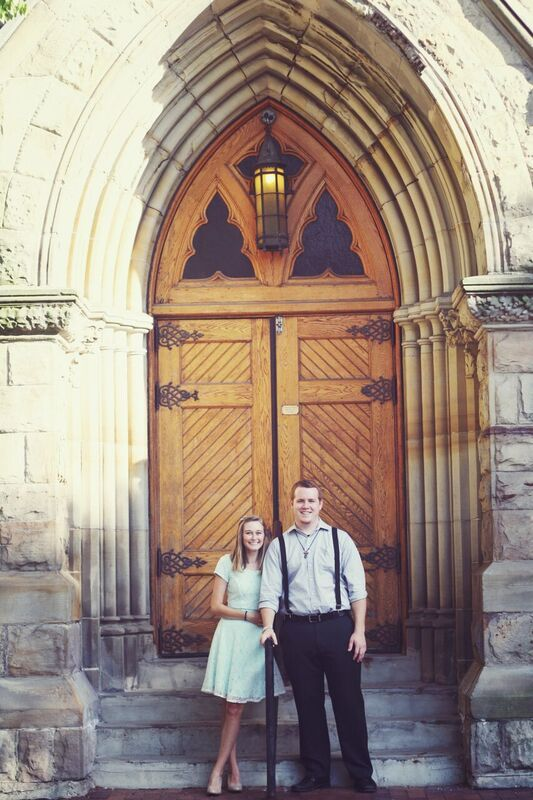 Front door detail Ste. Anne de Detroit Engagement photos