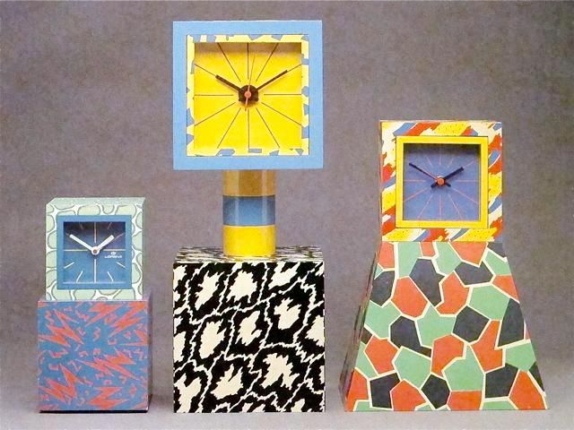 George Sowden clocks for Memphis 1981