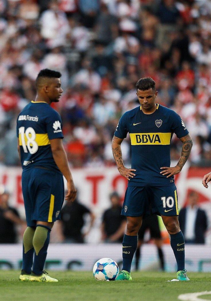 Frank Fabra y Edwin Cardona   - River Plate 1 - 2 Boca Juniors 2017