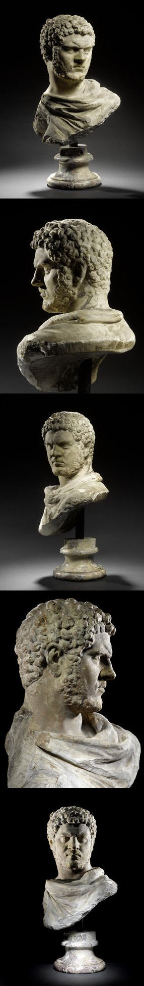 A Roman marble bust of the Emperor Caracalla  Late Severan Period, A.D. 212-217