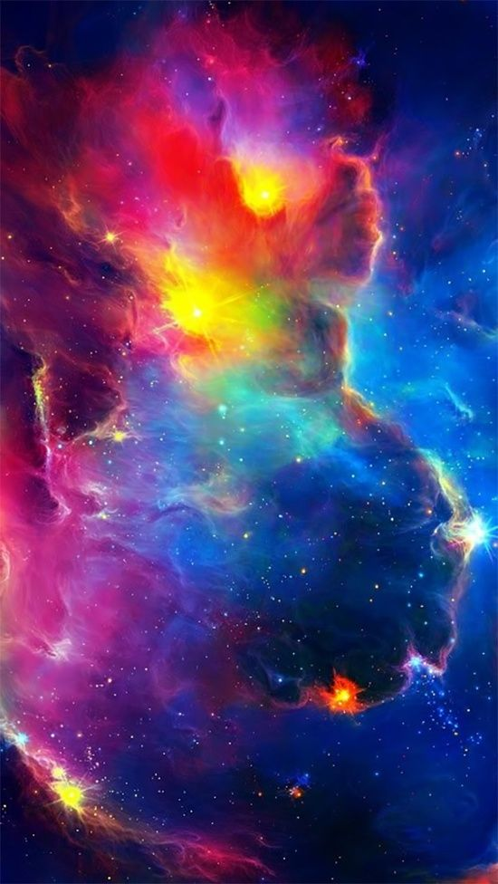 Galaxies Rainbows Colors Wallpapers