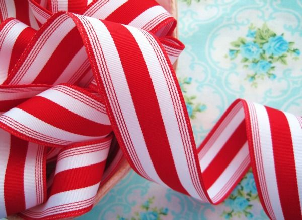 Candy Cane Stripe Grosgrain Ribbon-ribbon, grosgrain ...