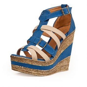 Sandalia Azul Kiazalla Combinada de Kiazalla