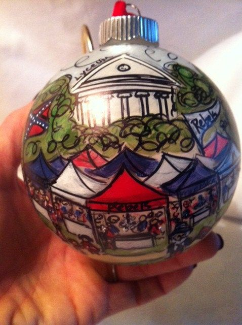 My mom paints these beautiful ornaments...she can customize anything you want! From Dixie With Love - Ole Miss - The Grove. $35.00, via Etsy. @Dawn Cameron-Hollyer Haley