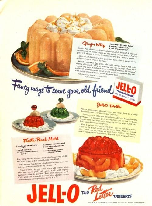 jello: Jello Vintagestylead, Vintageretro Recipe, Dinners Belle, Vintage Observed, Vintage Recipe, Vintage Jello, Vintage Ads, Hello Jello, Jello Moldings