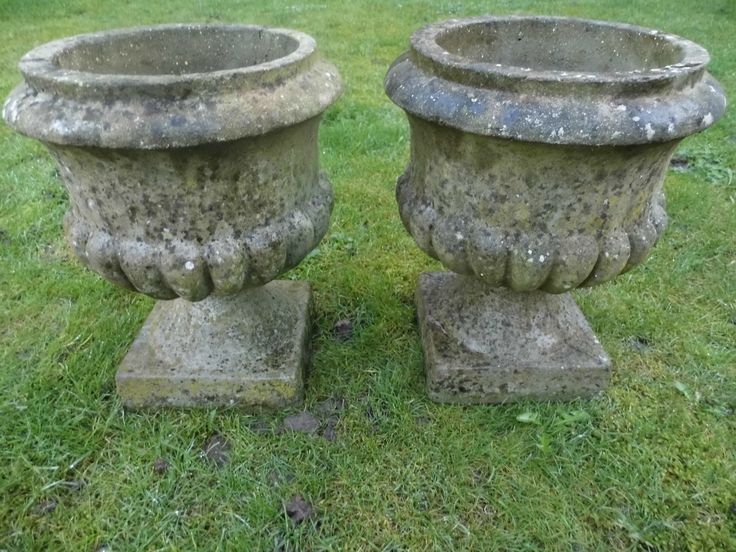 Pair Of Classically Shaped Vintage Urns