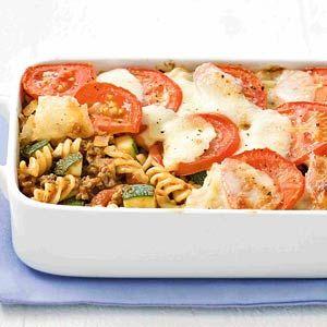 Recept - Ovenpasta met gehakt en courgette - Allerhande