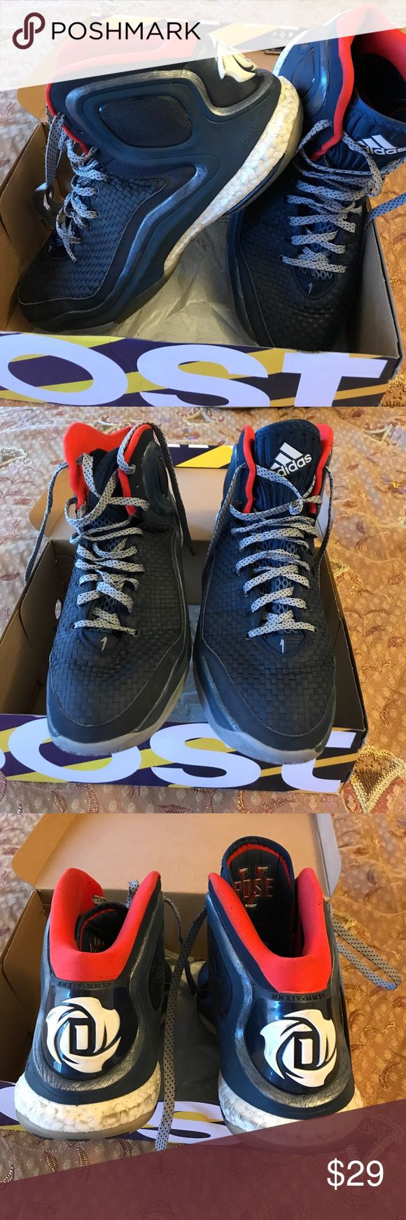 Derrick rose basketball shoes Men's size 11.5 derrick rose performance basketball shoes. Great grip. Very comfortable. Work a few times. WILL CLEAN THEM VERY WELL BEFORE SHIPPING. Thank you feel free to make an offer. adidas Shoes Athletic Shoes