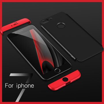 Bakeey™ 3 in 1 Double Dip 360° Full Protection Hard PC Cover Case for iPhone 7 4.7 Inch Sale - Banggood.com