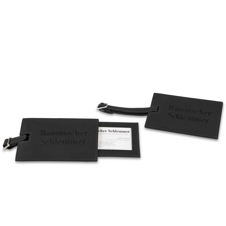 The Leather Luggage Tags - Hammacher Schlemmer