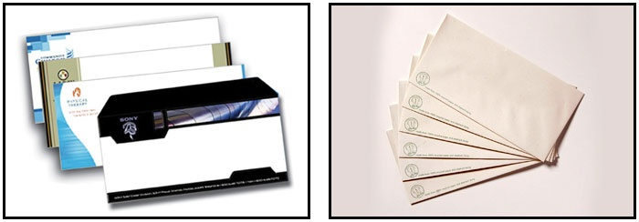 DL Envelopes Printing - DL envelopes with optional faces, seals and printed colours.
