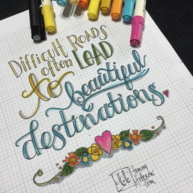Such a good quote for today's lettering practice. . #letteritmay #lettering #handlettering #fauxcalligraphy #distressmarkers #truth #quote