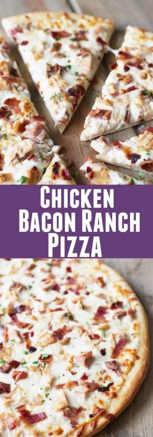 Chicken Bacon Ranch Pizza -a super easy pizza that will delight anyone who loves bacon and ranch!   countrysidecravings.com