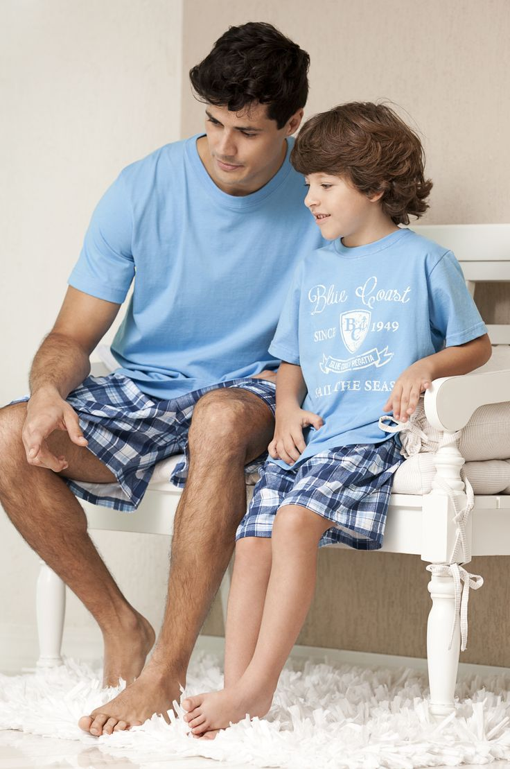 Pijama Pai e Filho #produtos #uniclingerie  #corcomamor #masculino #man #pijama #sleep #homem #infantil #children #father