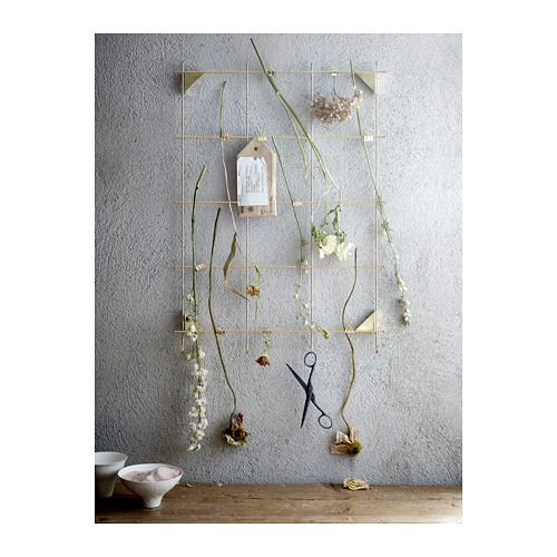MYRHEDEN Frame  - IKEA  Hang multiple pieces together to create a hanging divider. Spray paint white or black for a minimalist feel.
