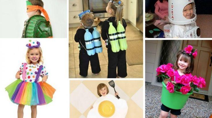 10 Fantasias para Criança com Materiais Reciclados