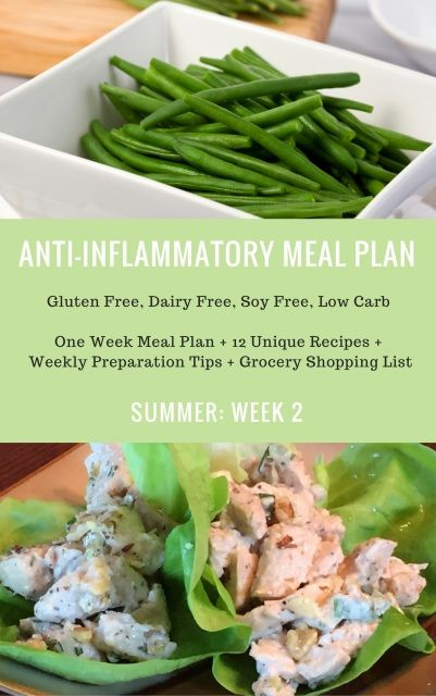 One Week Anti-Inflammatory Summer Meal Plan: Week 2