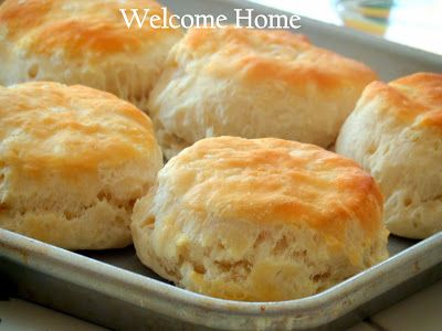 Welcome Home Blog: ♥ Buttermilk Biscuits. Made 1/15 and added cinnamon and raisins. Yum