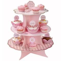 Our pretty in pink cupcake Stand is the pinkest and most perfect way to display your delicious cupcakes in your next party!! Perfect for a Ballerina Party or a Princess Party!