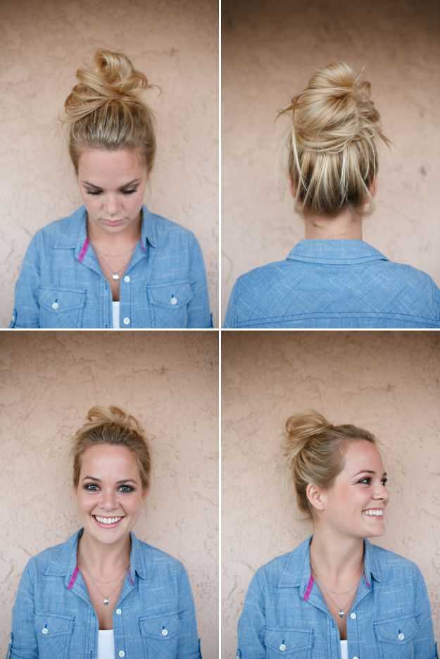 115 best quick and easy hairstyles images on pinterest cute 14 very easy do it yourself messy bun tutorial part 2 solutioingenieria Choice Image