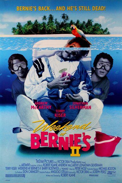 weekend at bernies movie | Weekend At Bernies II Movie Poster 1993 McCarthy Silverman Product ...