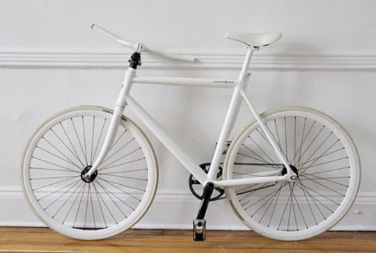 ThinBike by LifeEdited. Cool fold up/quick release system for storage. LOVE the all white, but it looks a little too Ghost Bike sad/eerie/ominous.: Folding Flats, Riding A Bike, Flatfold Thinbik, Flats Folding, White Bike, Graham Hill, Blog Design, Small Spaces, Thin Bike