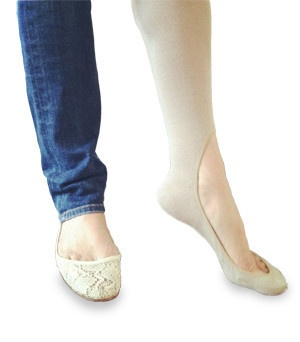 Keysocks: Keep your feet warm with these sleek kneehighs which stay put and don't show! #Socks #Kneehighs