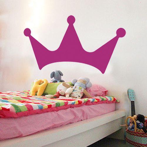 Corona rey sticker grande fucsia de lagoa, recupera tu espacio por DaWanda.com
