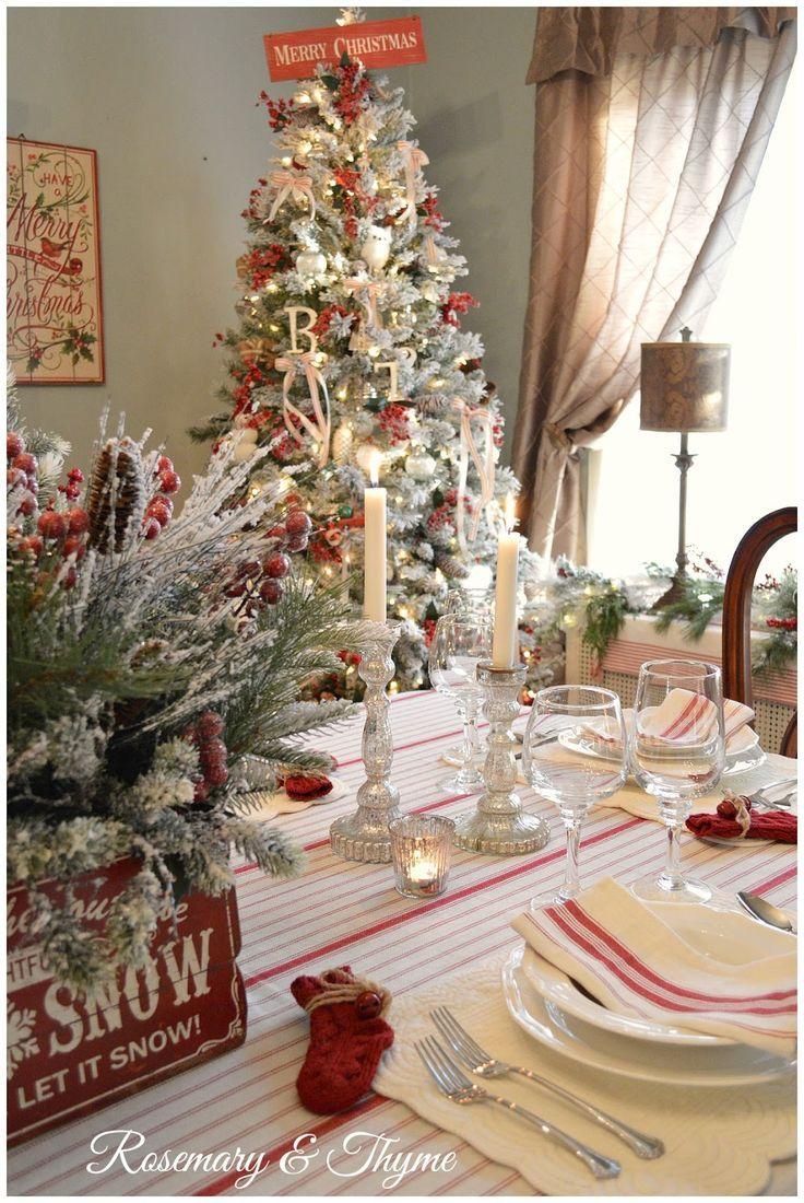 A post about Christmas Home Decor and Home Tour. Christmas, Christmas decor, dining room, white Christmas, snow, Christmas tree, home tour