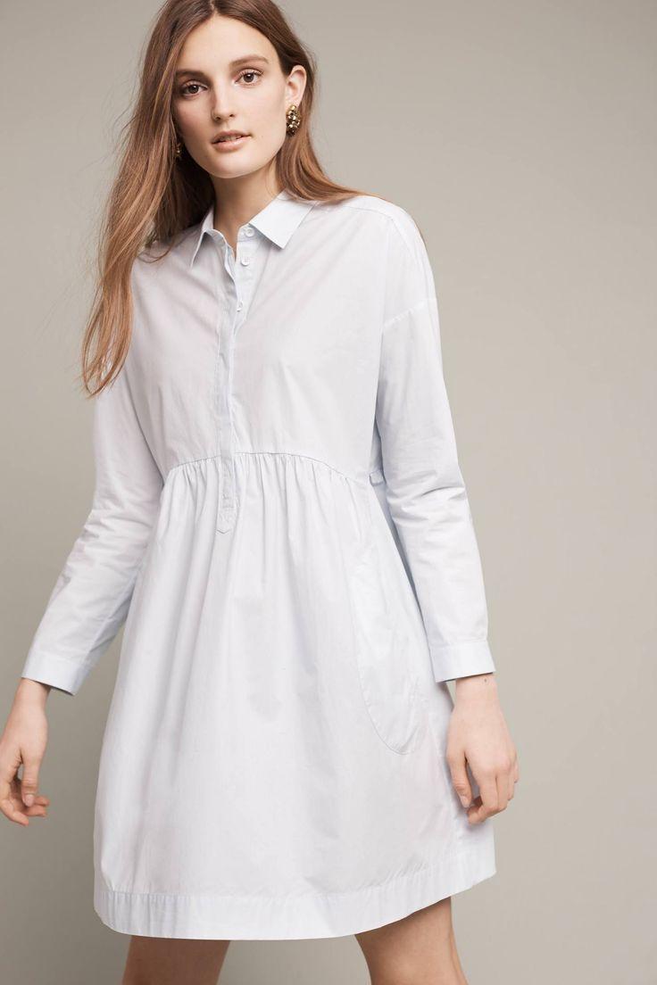 Gorgeous white shirtdress. #anthropologie