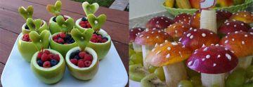 Kinder sollten mehr Obst essen! Fröhliche Obstkreationen für die Kleinen!