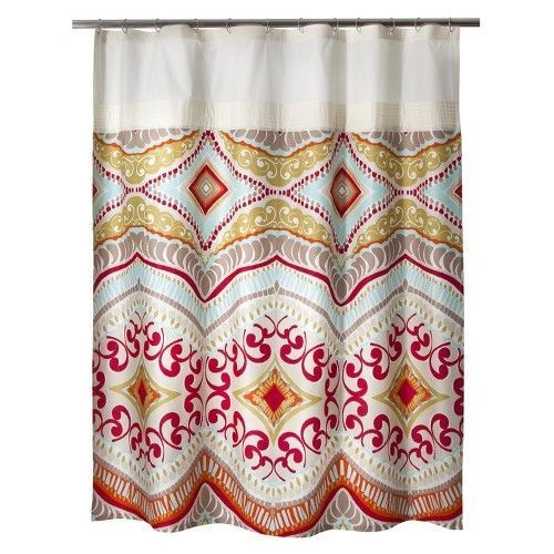 Grey And Yellow Curtain Panels Bohemian Shower Curtain