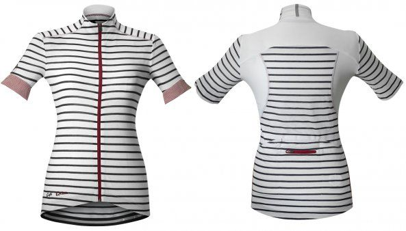 Suzanne women cycling jersey French sailor style cafeducycliste.com