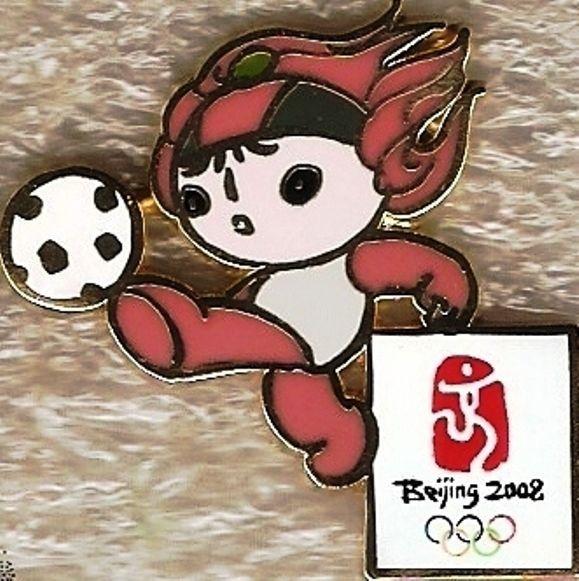 2008 Beijing Olympic Football Mascot Sports Pin NIP  | eBay