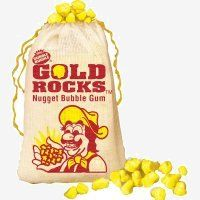 Gold Rocks Candy Bubble Gum  (the original of this type of gum was 'Gold Rush') OMG I remember these and wax bottles and lips too.
