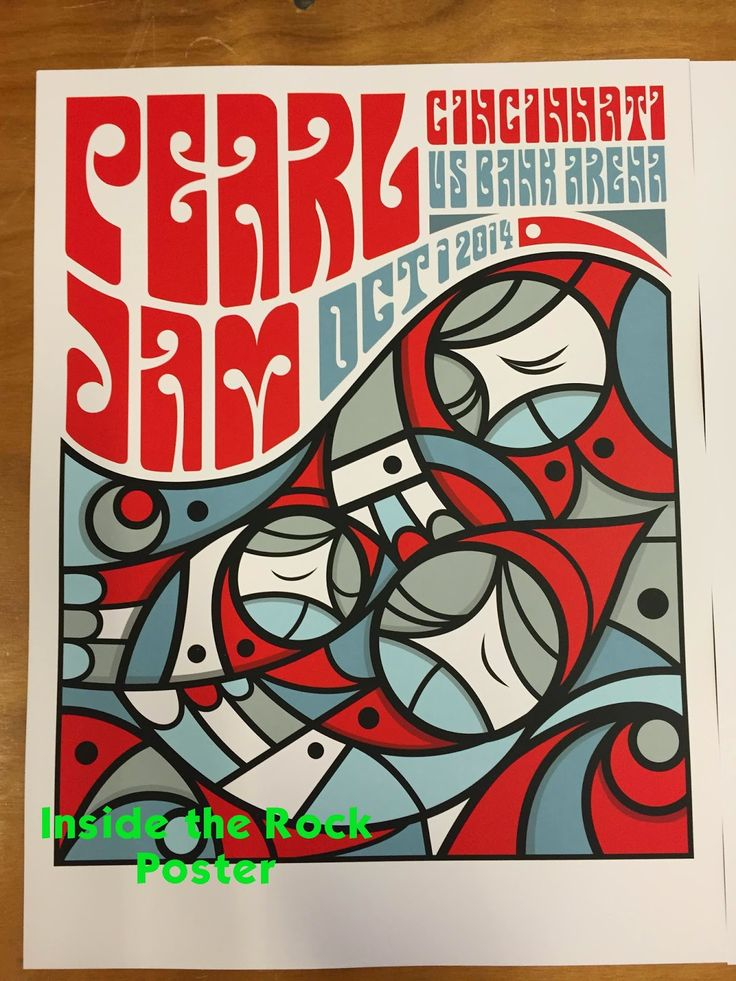 Tonight's Pearl Jam Poster from Cincinnati by Don Pendleton