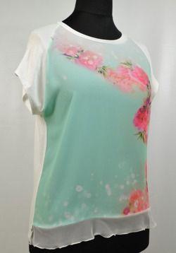 Bluzka damska w kwiaty Spektra D290