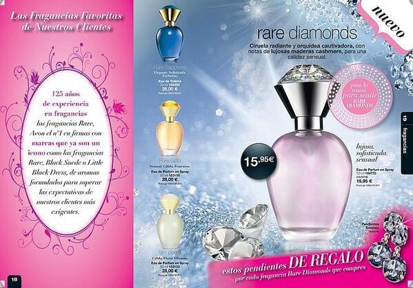 Prueba el nuevo perfume Rare Diamonds y llévate estos pendientes de regalo, sólo esta campaña por sólo 15.95E