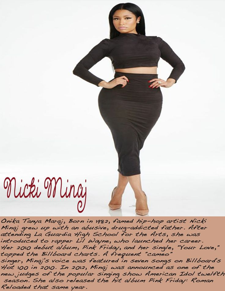 nicki minaj w/ mini bio