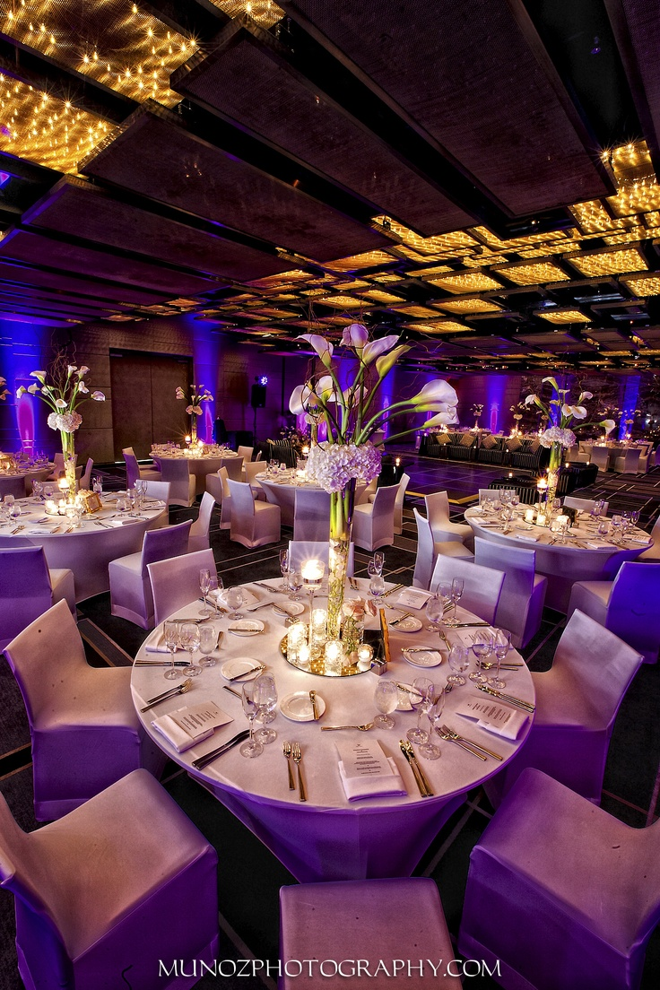 Indoor wedding reception at W South Beach