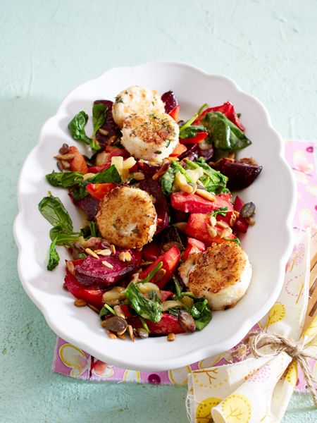 Winterlicher Salat mit paniertem Ziegenkäse                                                                                                                                                                                 Mehr