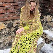 Одежда ручной работы. Ярмарка Мастеров - ручная работа Платье крючком и спицами Бохо-шик,вязаное крючком платье, в стиле Бохо. Handmade.