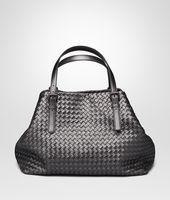 Shop Bottega Veneta® Women's LARGE TOTE BAG IN ARGENTO OSSIDATO INTRECCIATO GROS GRAIN. Discover more details about the item.