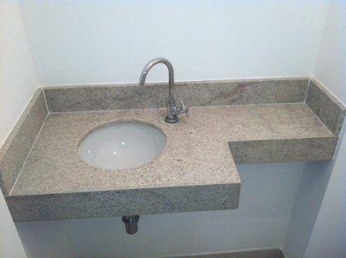 Modelos de pias em granito para banheiro -> Kit Acessorios Pia De Banheiro